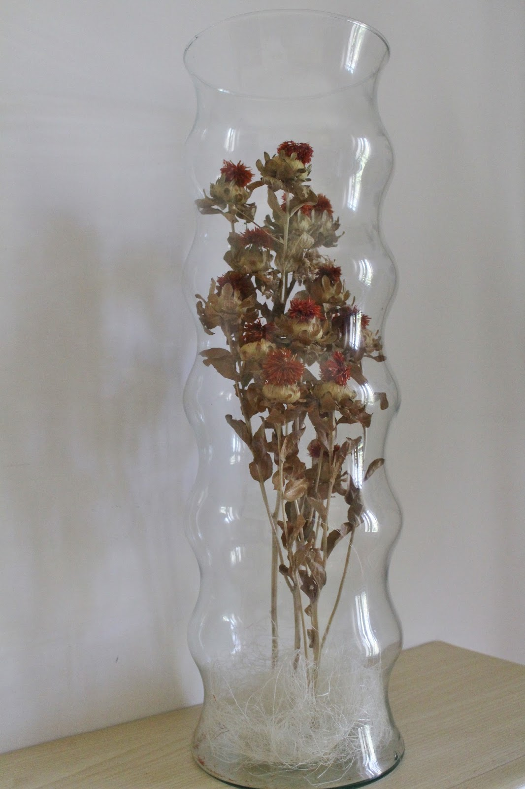 Favorito LA GRANJA DI ADRIANA: fiori secchi in vasi di vetro LG89