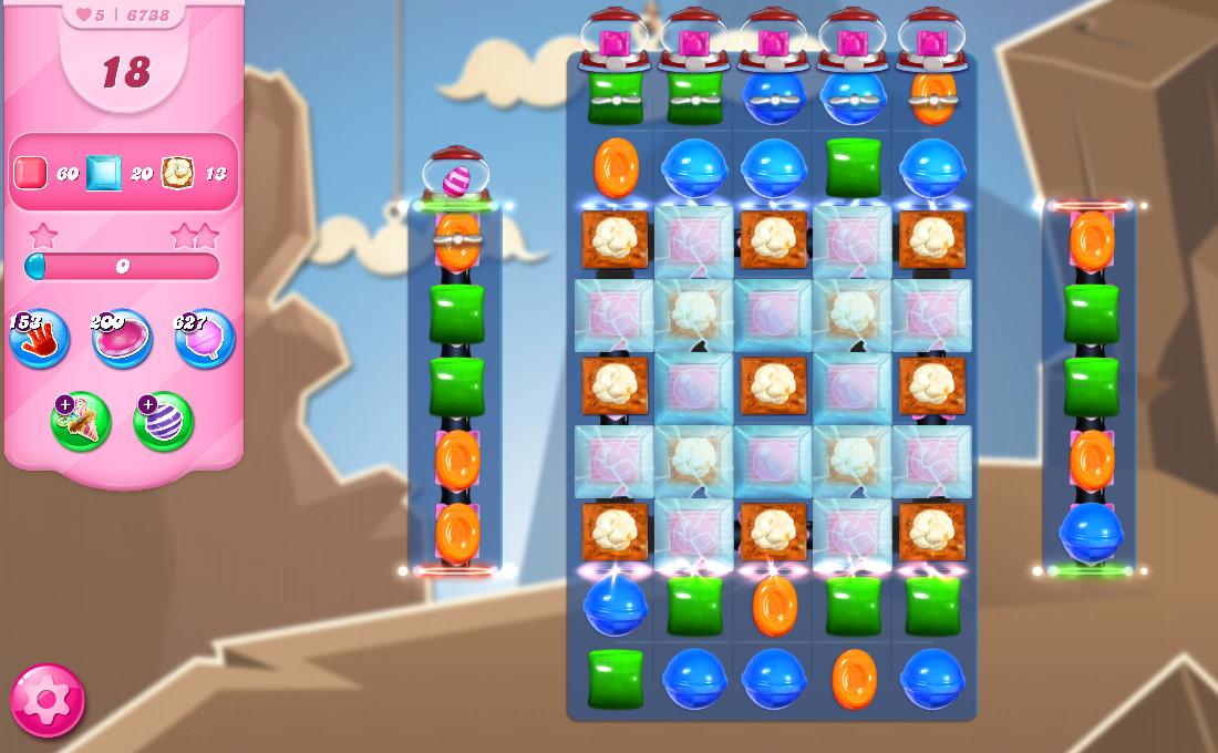 Candy Crush Saga level 6738