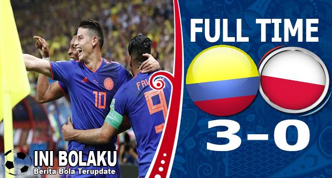 Hasil Polandia vs Colombia Skor Akhir 0-3 | Fase Group H World Cup 2018