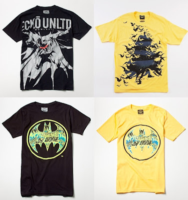DC Comics x Ecko Unltd. Batman T-Shirt Collection - Explosive, Dark Striper, Black Vandal Signal, Yellow Vandal SignalT-Shirts