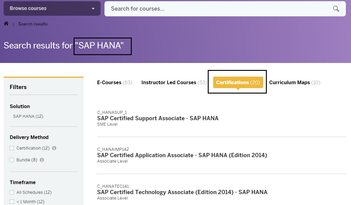 SAP HANA Central : How to Book SAP Certification Exam