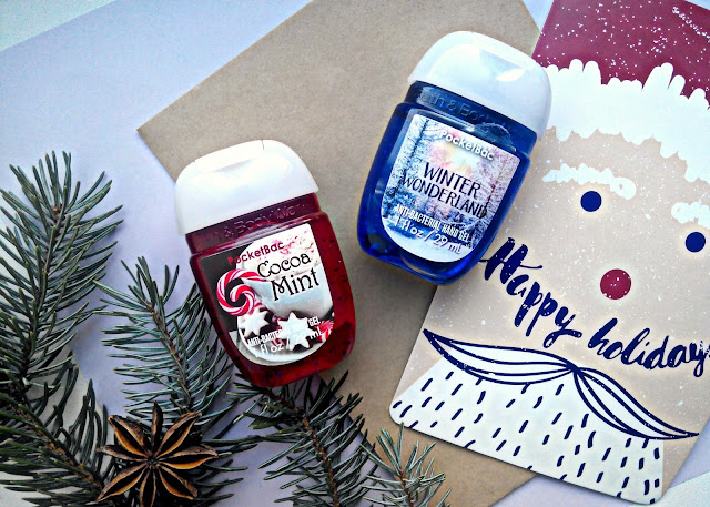 "Bath & Body Works Anti-Bacterial Hand Gel ""Winter Wonderland"" and ""Cocoa Mint"" Санитайзеры для рук"