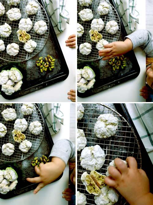 amarettis sicilianos de pistachos