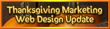 FREE Thanksgiving Marketing Tips - Web Design Update - Targeting Pro