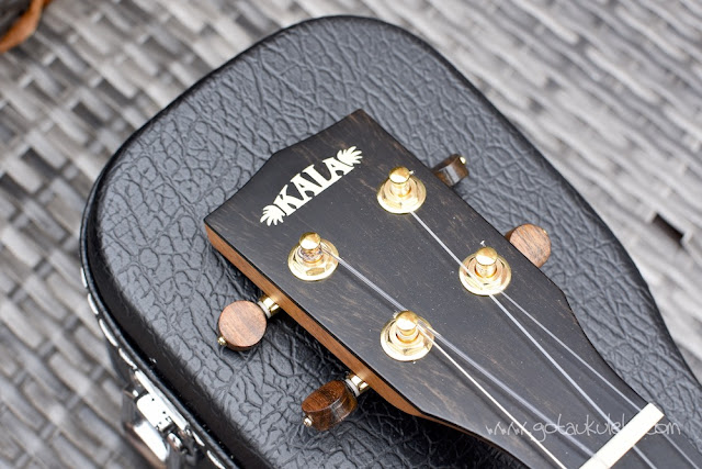 Kala Elite Koa Tenor Ukulele headstock