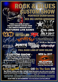 FM at Pentrich Rock & Blues Custom Show - 29 July 2017 - poster
