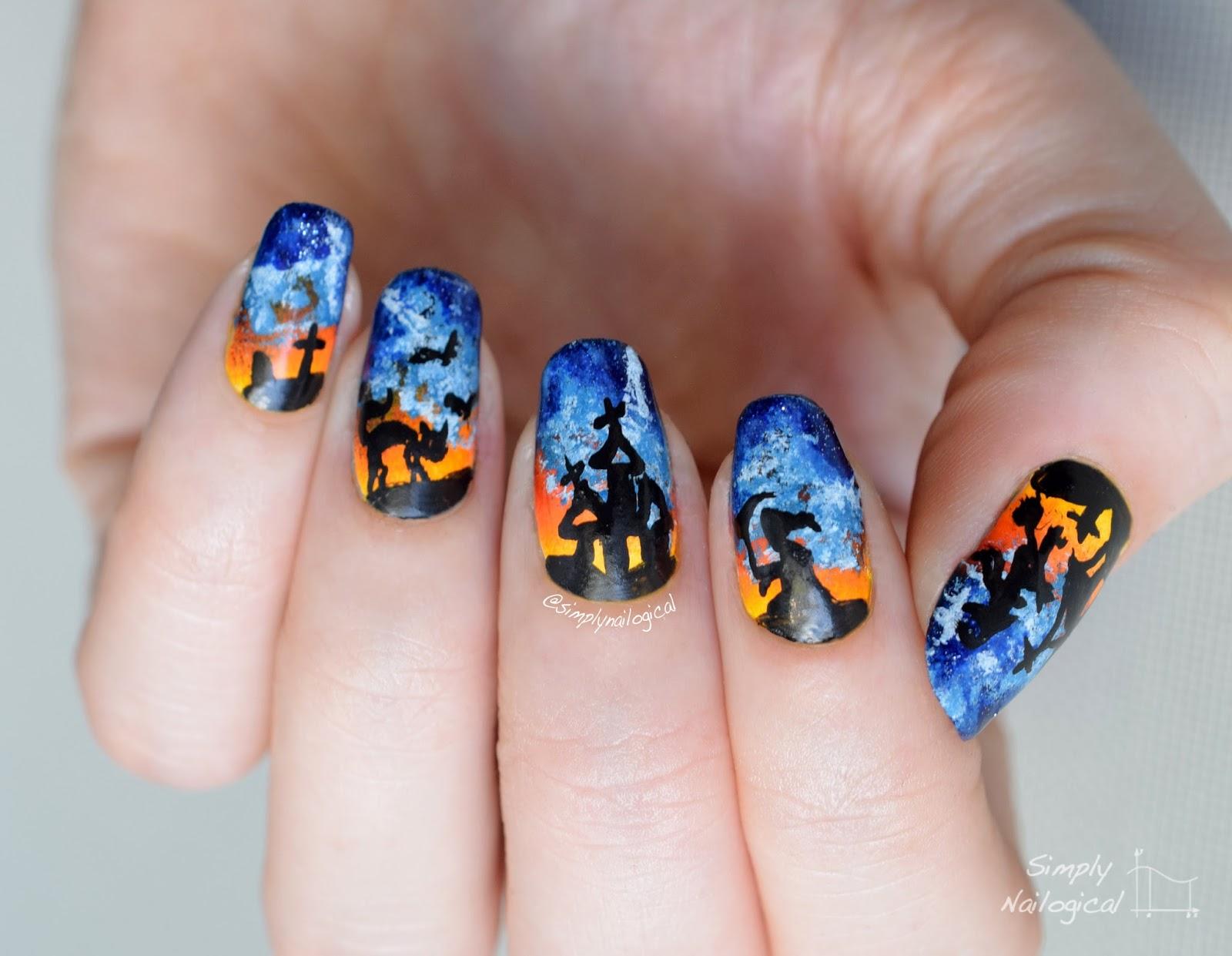 Simply Nailogical: Halloween nails throwback: Sea-foam ...