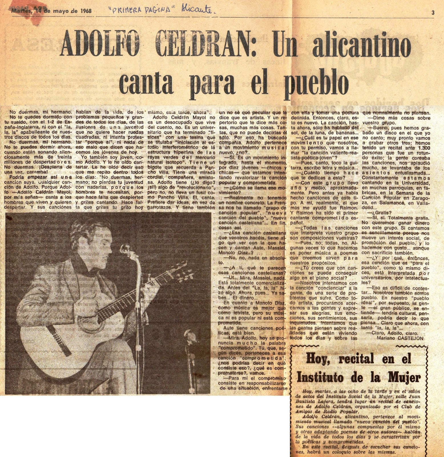 Memoria m sico festiva de un jubilado tocapelotas adolfo for Adolfo dominguez mendez alvaro 9