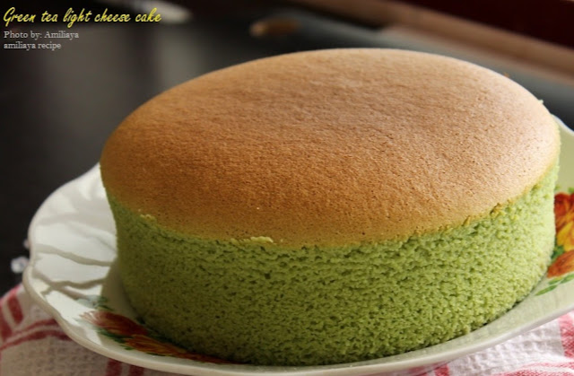 Green tea light cheese cake