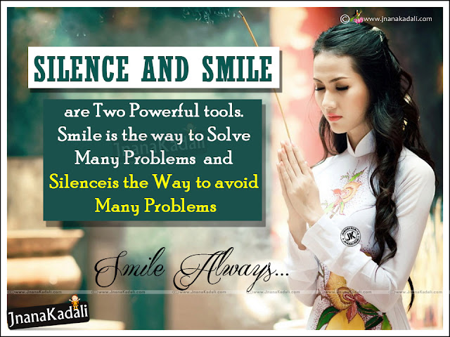 smile and silence value messages quotes in english, english messages on smile and silence