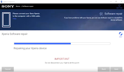 Cara Flash Sony Xperia All Type Dengan Sony Companion