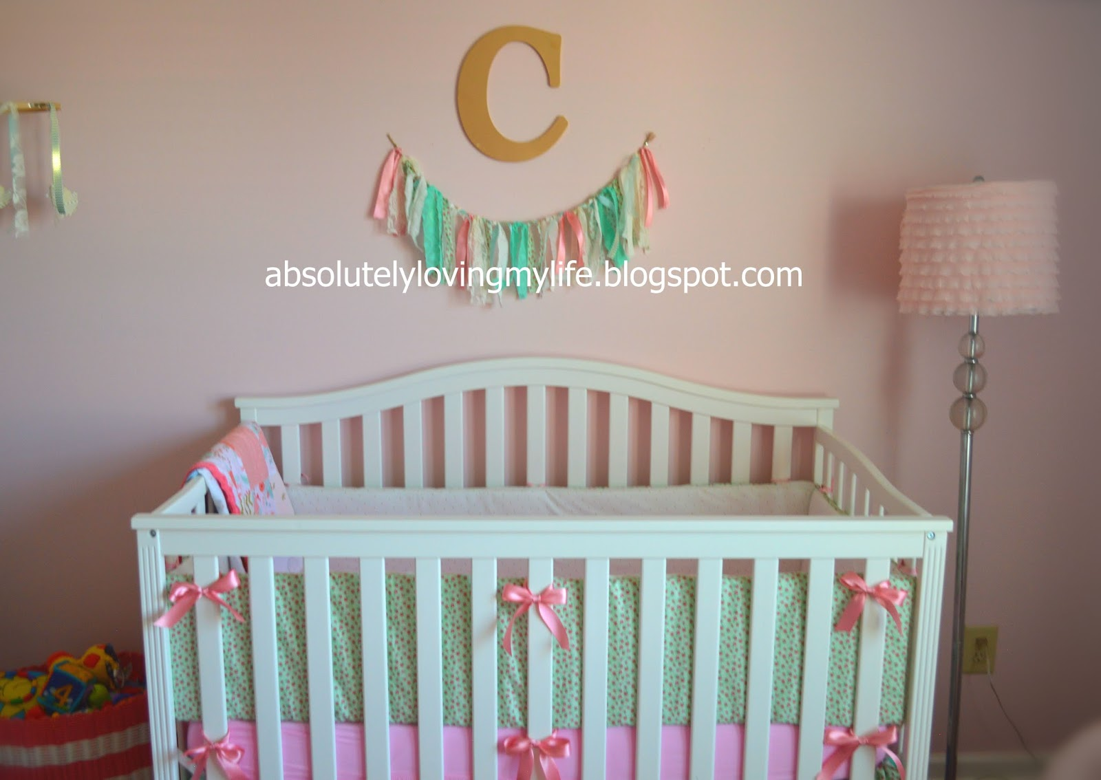 Loving Life: DIY No-Sew Crib Bumpers