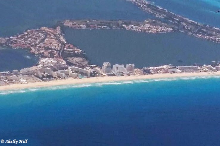 Beautiful Aerial Views Cancun and Riviera Maya Mexico