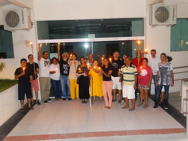 Em Delmiro Gouveia, MOVA-SE realiza manifestação em memória aos  três  anos sem energia no Museu Regional de Delmiro Gouveia