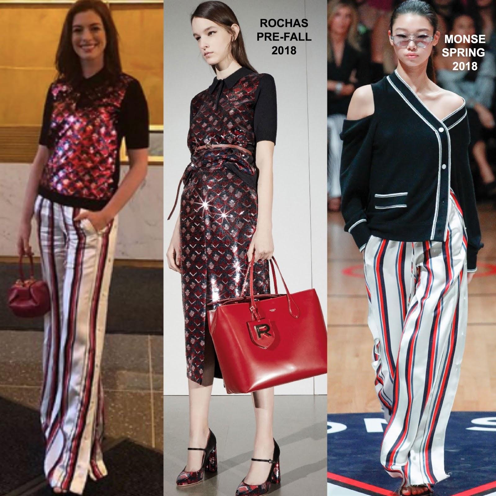 Anne Hathaway Instagram: Instagram Style: Anne Hathaway In Rochas & Monse