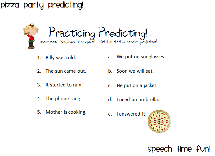 Pizza Predicting Party Speech Time Fun Speech And