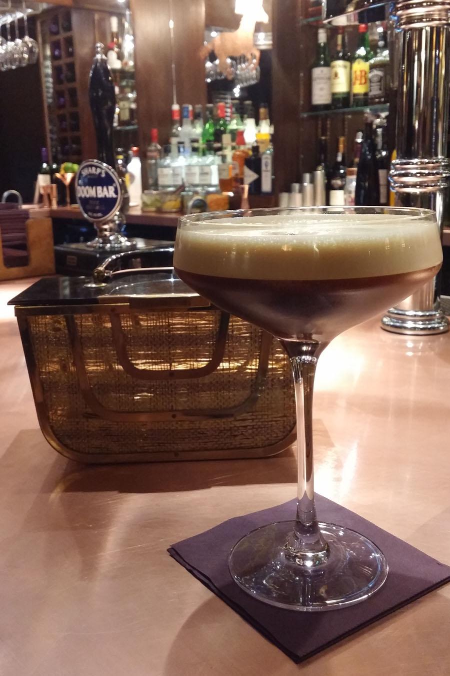 Espresso Martini and vintage handbag