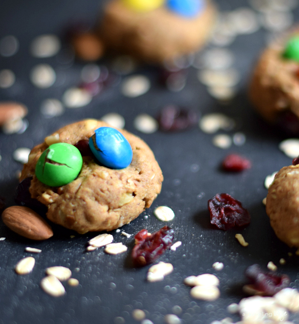 Trail Mix Cookies [Dairy-Free] | www.atravelingwife.com | a-traveling-wife