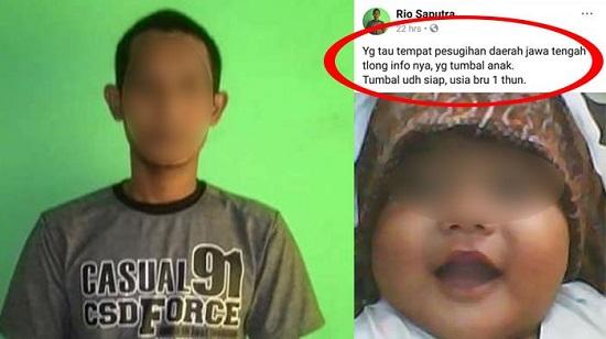 RioSaputra, Ayah Yang Ingin Tumbalkan Anaknya Untuk Pesugihan Hebohkan Facebook