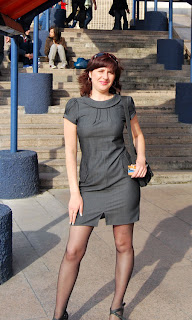 Fashion Tights Skirt Dress Heels Romantic