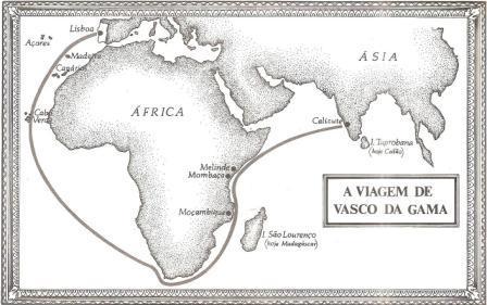 mapa vasco da gama Blog do Professor Chacon: MAPA DA VIAGEM DE VASCO DA GAMA mapa vasco da gama
