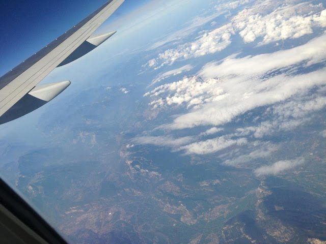 View from the Airplane window to Kavos
