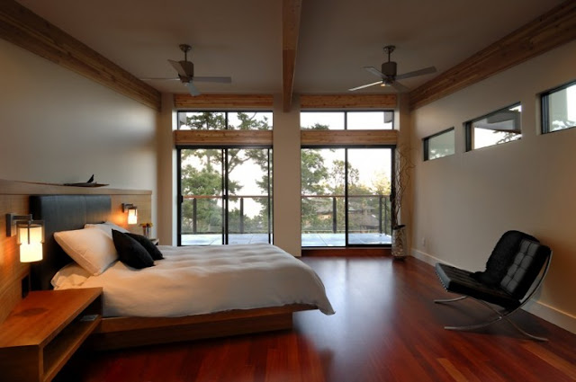 Photo of modern minimalist bedroom in armada house