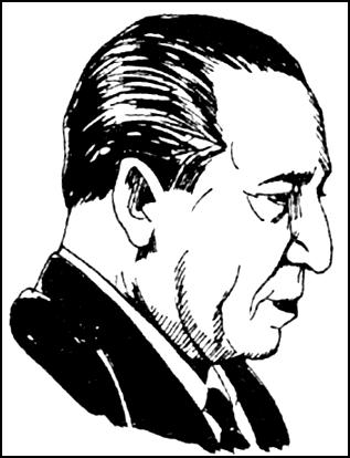 Ilustración de Francisco Morales Bermúdez de perfil