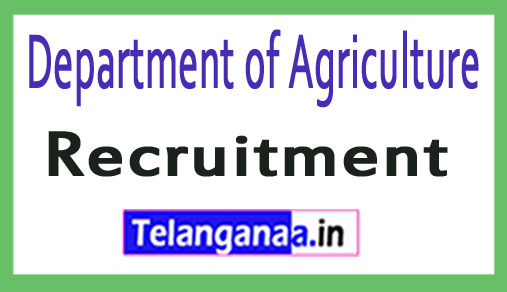 Department of Agriculture Recruitment