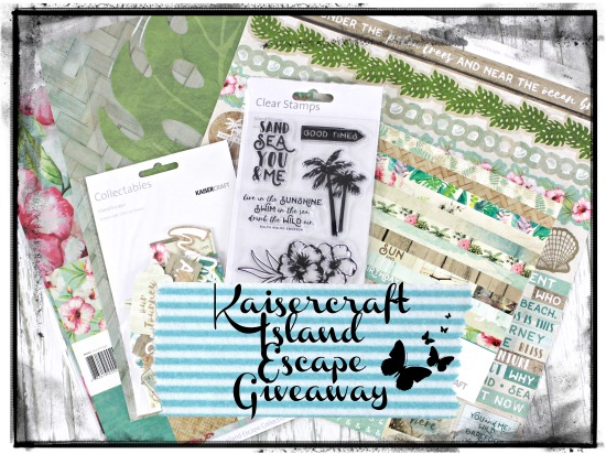 Subscribe to my Mailing List in April and go in the draw to win a Kaisercraft Package
