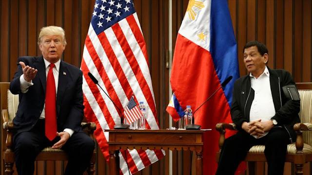 """Trump ve """"excelentes"""" lazos con Duterte, eludiendo casos de DDHH"""