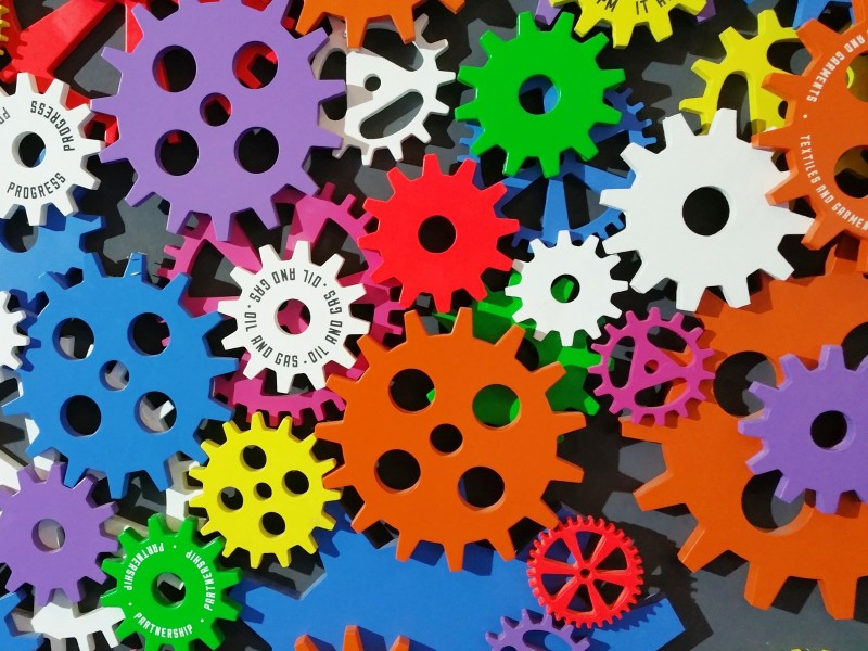Download Colorful Sprockets HD wallpaper. Click Visit page Button for More Images.