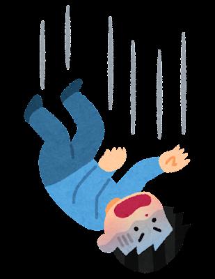 落下する人のイラスト