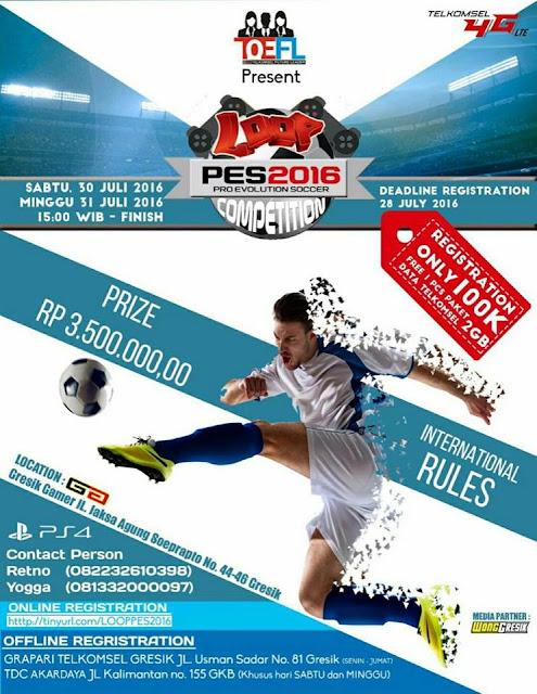 Info Kompetisi PES 2016 di Gresik