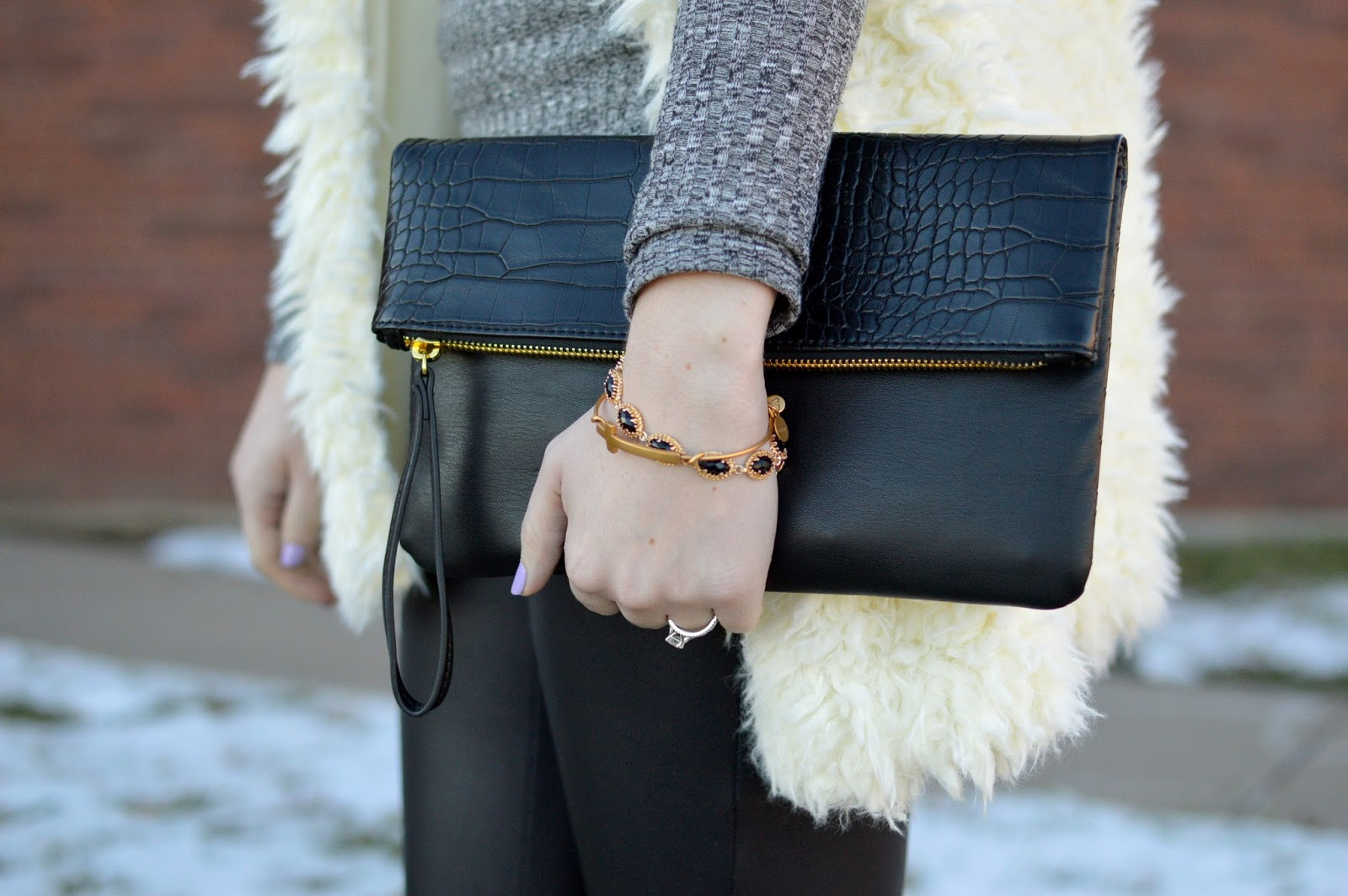 cute black clutch