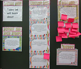 photo of posting learning goals in the classroom @ Runde's Room