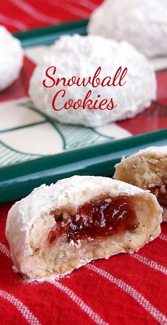 Jam Filled Snowball Chirstmas Cookies Christmas Cookies