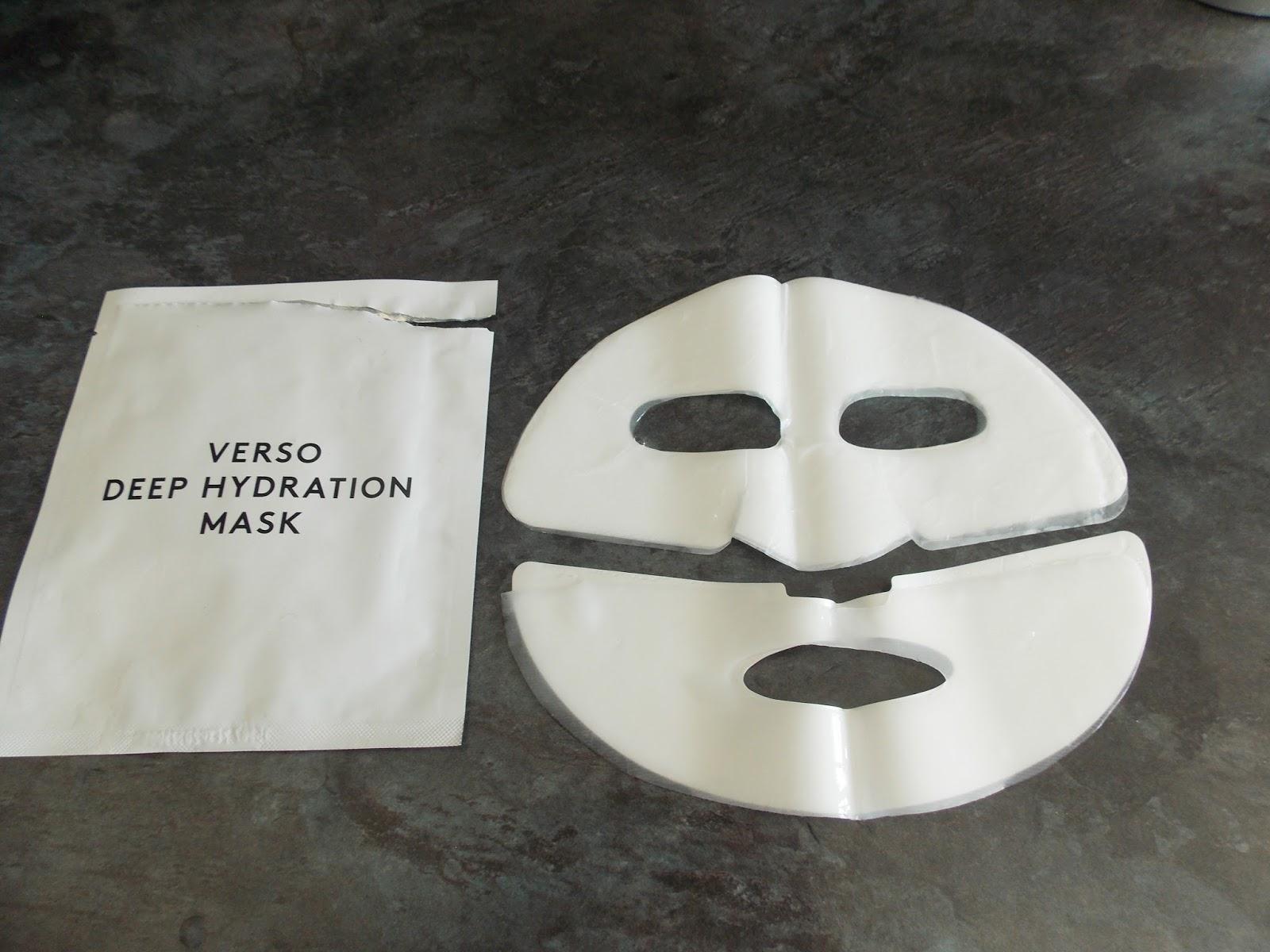verso sheet mask