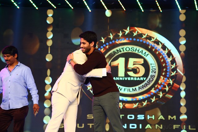 "15th Anniversary of 'happy' South Indian Film Awards celebration function  The 15th anniversary of the 'Santoshi' ... Santos South Indian Film Awards ceremony was held at the Gachibowli Indoor Stadium in Hyderabad on Saturday evening with great performances in the presence of film and singers and film personalities at the Indoor Stadium. Best Actor Naga Chaitanya (Love) Boyapati Srinu and Star Producer Allu Arvind received the award for best director. Samantha is the best actress in the film. Boyapati Sreenu is the best director of the film directed by Telangana Rashtra Cinematography Minister Tharasini Srinivasaadavu received the award. The best film award was won by the National Award winning movie 'Pallilippukal'. The film was produced by Raj Kandukuri Boi Patti Srinu. Dasari Narayana Rao Memorial Award, Allu Ramalingaiah Memorial Award and other languages ​​are honored with awards from Santosham. Also, the beauty of the heroine's Manna Chopra, Richa Panay, Anasuya special perpamenans has brought more joy to the ceremony.  Following the awards ceremony, hero Nagagekanthi said, ""It is not a small matter to celebrate the anniversary of happiness annually for 15 years. Suresh is doing something great every year to make anniversaries happy every year. It is very happy. Nakki Award is the reason why I am not the love film. The Malayalam version has made me a lot of inspirations for watching the movie ... Critics have also been very enthralled. That's why this award has come. Similarly, Samantha has been awarded with awards. Now the happiness award has also been reached in that account. Specially thanking Suresh Suresh who has been honored with these wards. ""  Director Boyapati Srinu said, ""It is very happy to have completed 15 years of happiness and entering the 16th year. Similar Suresh should celebrate more anniversaries. I am very happy to be awarded as a Best Director for Right to Direct. It is happy to be happy with the release of my Jaya Janaki Jayakala Success Time on Friday. Suresh congratulates you for this. Let's be happy forever. ""  Telangana state cinematography minister Tharasani Srinivasa Yadav said, ""The Telugu film industry has moved from Chennai to Hyderabad due to the efforts of adults like Ramanidhi, Kanishka, Eenar and NTR. Their work is never forgetting. Telugu cinema industry is getting ready for the day. Today the Telugu cinema industry is known all over the world. The reason is Baahubali movie. There is a need for more such films. New movies .. New people are doing success. Hence employment increases. This is good news for the industry. Telangana state government will never cooperate with film industry. The government plans to make further development. Occasionally there are issues in film industry. We are always ready to make the right choices for them to be mature and mature. Suresh Kondeti is the youngest in the world. From the journalist level to this range, he understands the level at which he is working. It is not a small matter to give happiness awards for 15 years. It has a lot of support. But it's another great thing to do everything yourself. Other than the heroes who are awarding such awards, The industry must come in such a way of doing such programs. In future, we will take steps to ensure cooperation from the government in all possible ways, ""he said.  AP Minister Banerjee Srinivasa Rao said, ""For 15 years the magazine is hard to run. But for a few years, such a grand prize was awarded by Suresh Kay. Apart from those who take the awards for such celebrations, the rest should come. We are also making plans to improve film industry in Vizag. There are beautiful locations. 20 per cent of film shoots are also going to be directed by directors and producers. We give permissions in a single window.  MP Murali Mohan said, ""It is a great thing to have a film magazine to honor the actors for 15 years. It is a joy to be honored in the South after the Filmfare in the country. Dasari is very happy with the awards award. I am very happy to get Dasari's memorial award in the first year. ""  Senior writer Paruchuri Gopalakrishna said, ""KV Reddyari award is a popular Dasari memorial award which is a popular award by Ayyon Suresh. Suresh is very happy to give us this name in the name of Dasari. ""  Producer Allu Aravind"