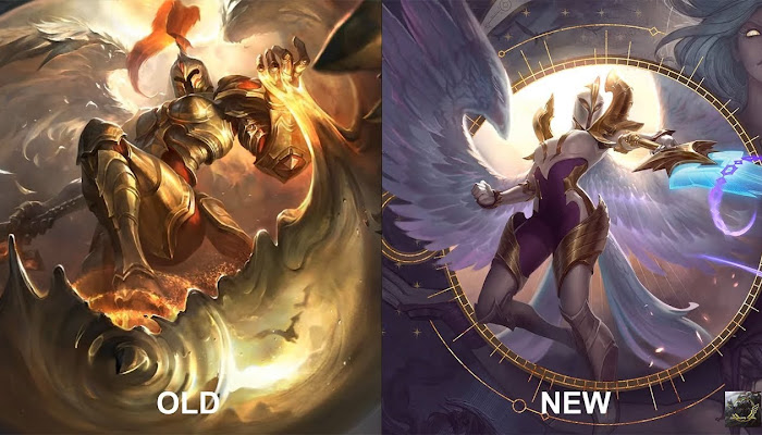 Kayle 2019 Rework NEW vs OLD Skins Comparison - League of Legends