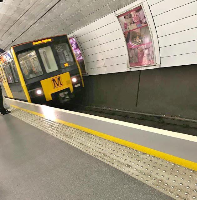 Tyne and Wear Metro train at Haymarket