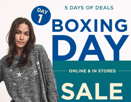 Gap Boxing Day Sale 5 Days of Deals