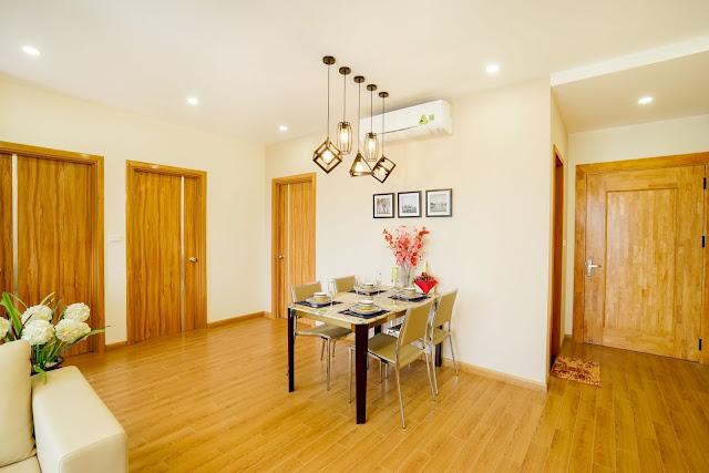 Thiết kế phòng ăn của căn hộ