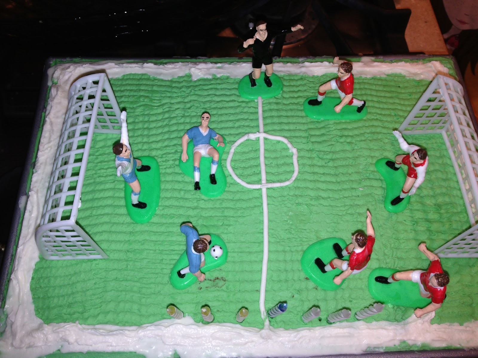 Soccer Field Ice Cream Cake