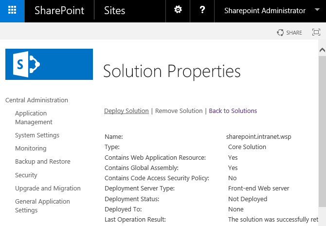 sharepoint powershell deploy multiple solutions