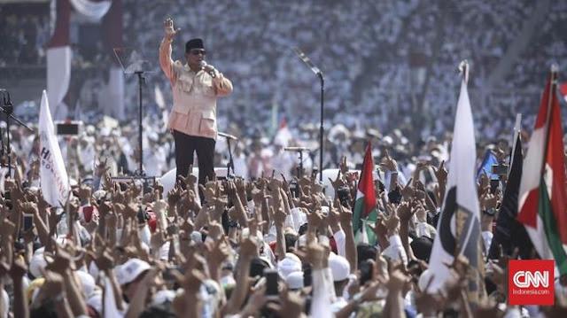 Prabowo Tinggalkan GBK Saat Video Habib Rizieq di Makkah Diputar
