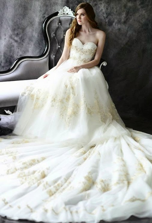 Color Trends In Wedding Dresses-Wedding Dress With Colors