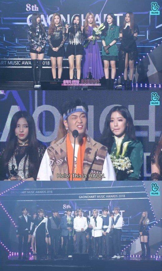 2018 Gaon Chart Ödülleri'nde BTS ve iKON 3 ödül aldı