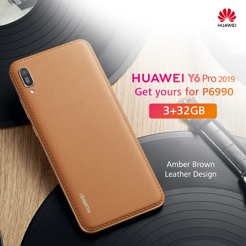 Huawei Y6 Pro 2019 Amber Brown Leather Design arrives in the Philippines