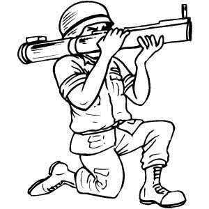 kleurplaat soldaten met geweer leuk voor britse